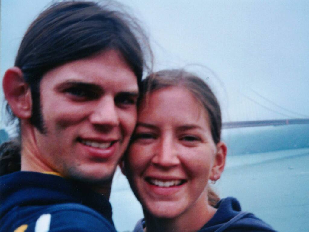 Jason Allen and Lindsay Cutshall took this photo of themselves days before they were found shot to death in August 2004 on a Jenner beach. (PD FILE)
