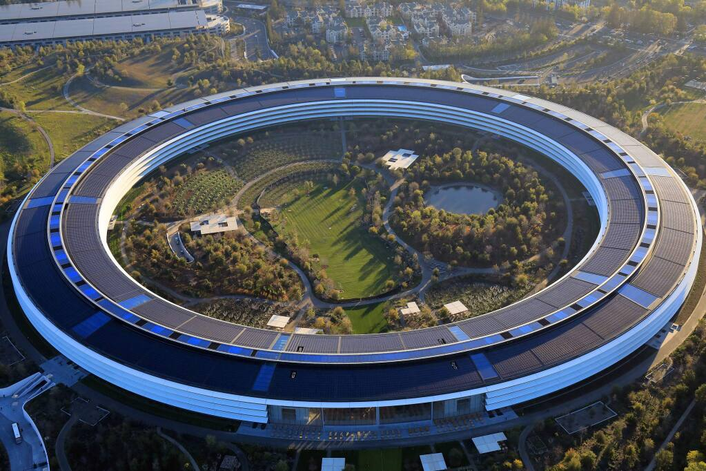 Apple's new headquarters in Silicon Valley, which was constructed with an acute awareness that the building sits in earthquake country, in Cupertino, Calif., March 15, 2019. With notable exceptions, including Apple's new headquarters in Silicon Valley, the innovations in building for earthquake preparedness have been used only sparingly in the United States. (Jim Wilson/The New York Times)