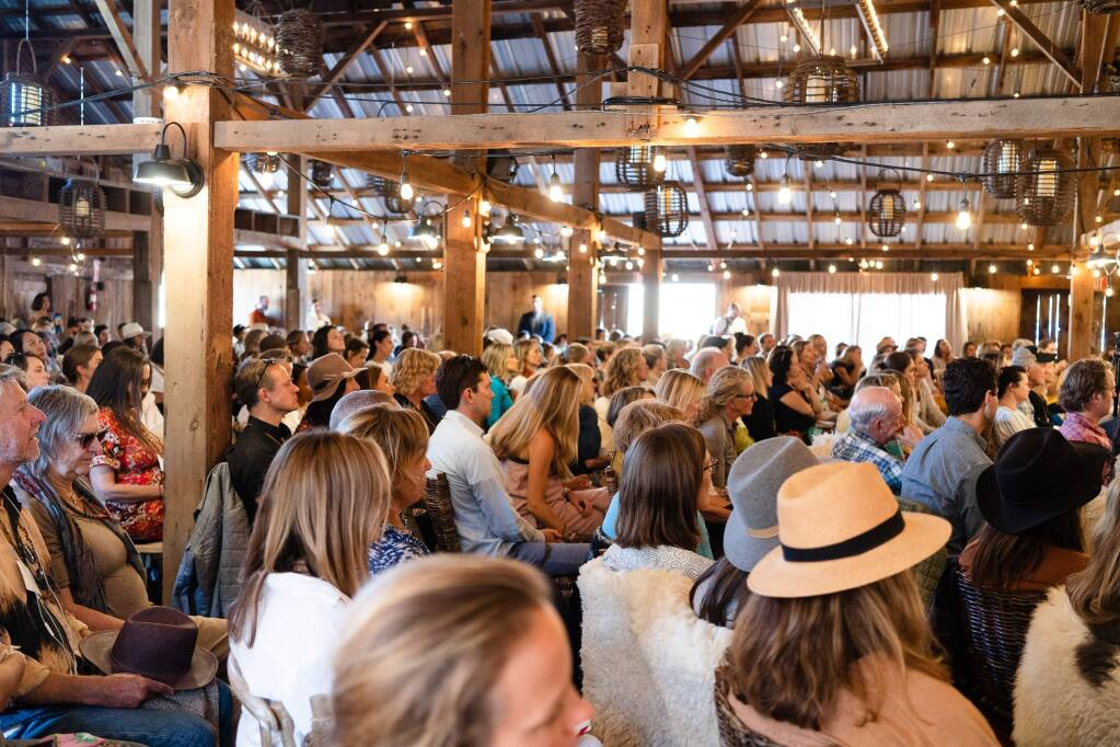 The Stemple Creek Ranch barn is where the inaugural Futurewell summit at west Marin's Cremple Creek Ranch on Friday, Sept. 6. (Katherine Emery)