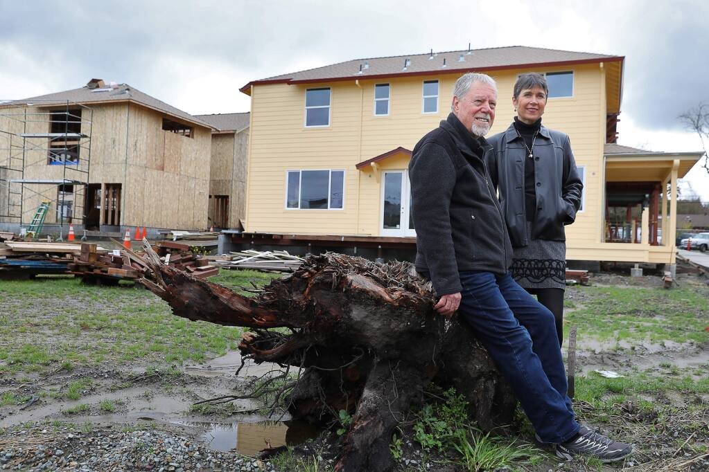 Orrin and Terri Thiessen, are developing Green Valley Village in Graton, which includes six granny units. Orrin Thiessen believes that the water agencies impace fees are in violation of state law, which says that fees should be proportional to the size of the units being built.(Christopher Chung/ The Press Democrat)