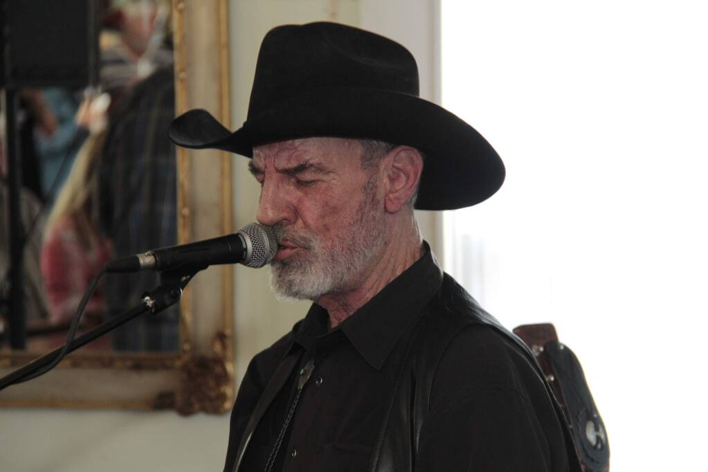 Tommy Thomsen, playing at the historic Washoe House in Petaluma. JIM JOHNSON for the ARGUS COURIER