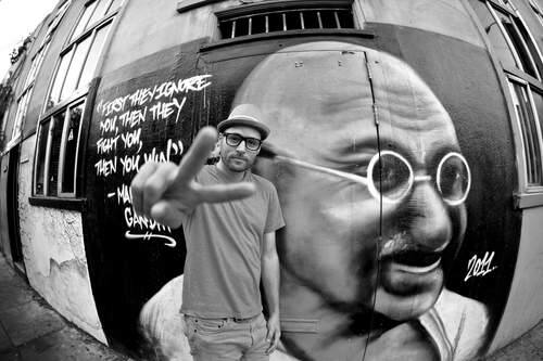 The Marin performing artist and yoga teacher is returning to Hanna for his 'Spiritual Graffiti' book tour and concert.