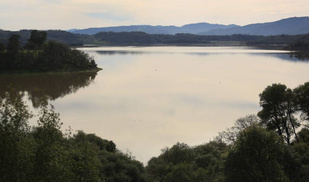 Water levels are nearly back to normal at Lake Mendocino in Ukiah on Wednesday, Feb. 11, 2015. (KENT PORTER/ PD)