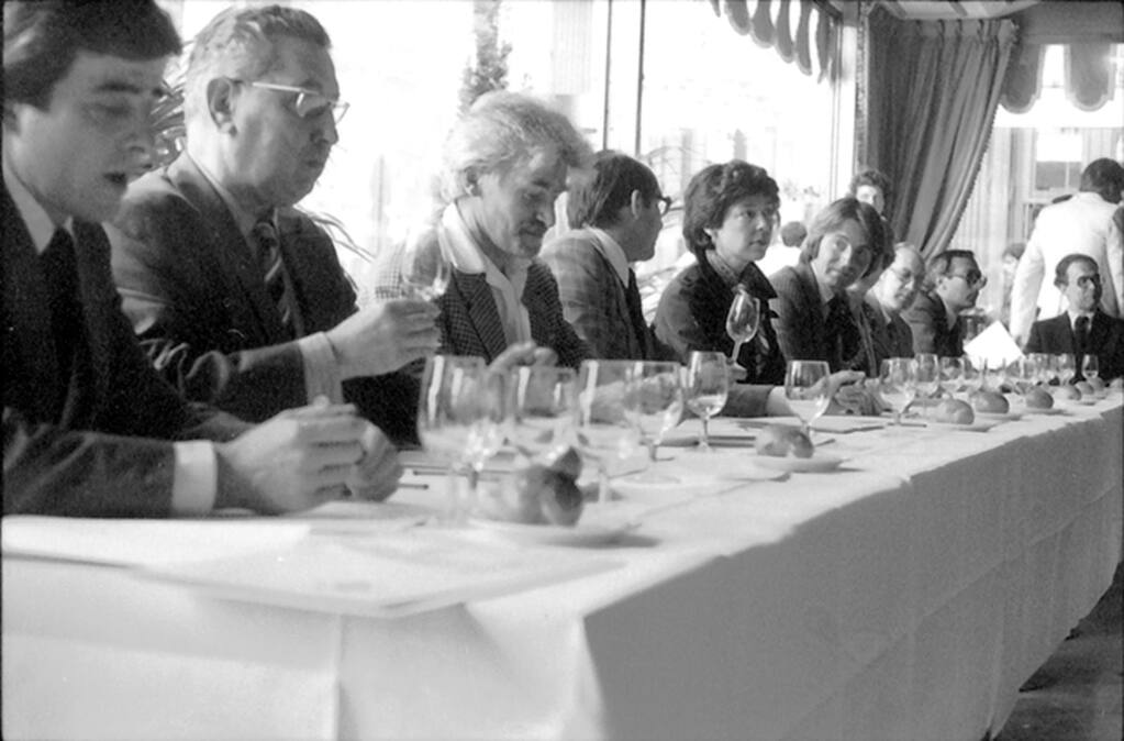 The 1976 tasting became known as the Judgment of Paris, where French judges rated the Stags' Leap Wine Cellars 1973 Cabernet Sauvignon and the Chateau Montelena 1973 Chardonnay over top French wines. (Bella Spurrier/ For The Washington Post)