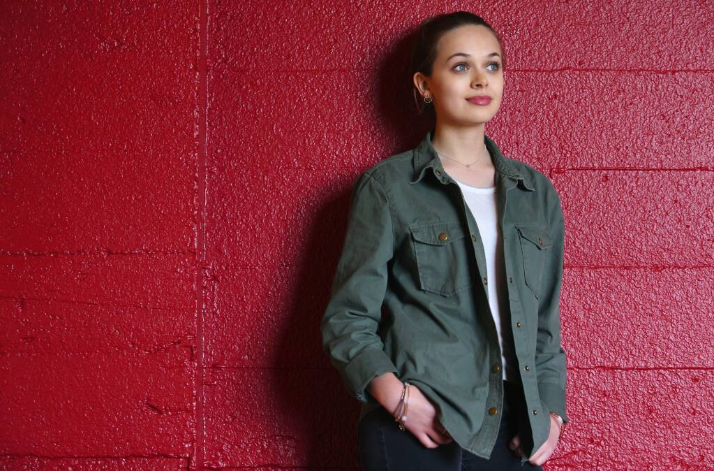 Sebastopol native Alyssa Jirrels, 15, is pursuing her dream of acting, in Los Angeles. Jirrels currently appears in the television series Mech-X4 on the Disney Channel.(Christopher Chung/ The Press Democrat)