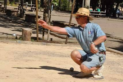 Courtesy Sonoma Wine Country GamesA competitor in the 2015 petanque competition tosses his boule.