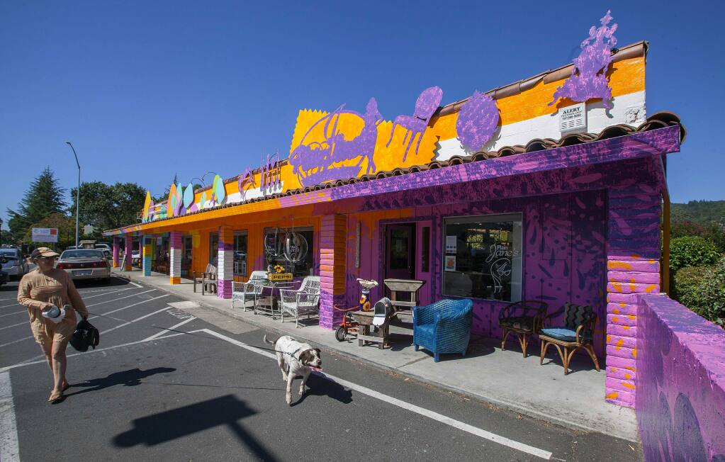 Robbi Pengelly/Index-TribuneLa Michoacana and Plain Jane's are two of the businesses in the springs that have received new paint done by Rico Martin.
