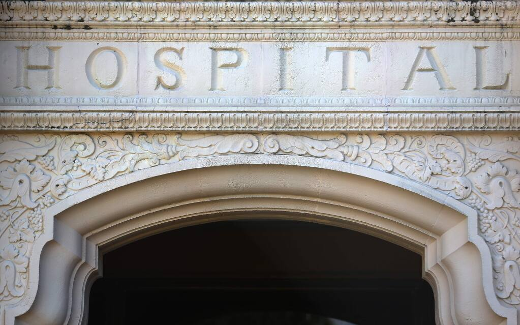 The original building at the former Sutter Santa Rosa Regional Hospital was built in 1936.(Christopher Chung/ The Press Democrat)