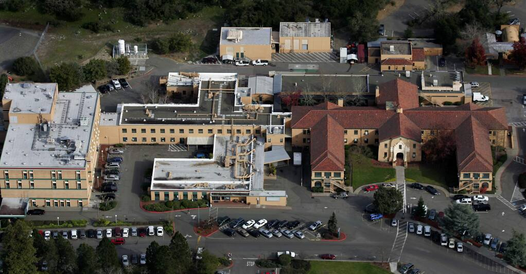 Sutter Hospital in Santa Rosa from the air in 2007. (KENT PORTER/ PD FILE)