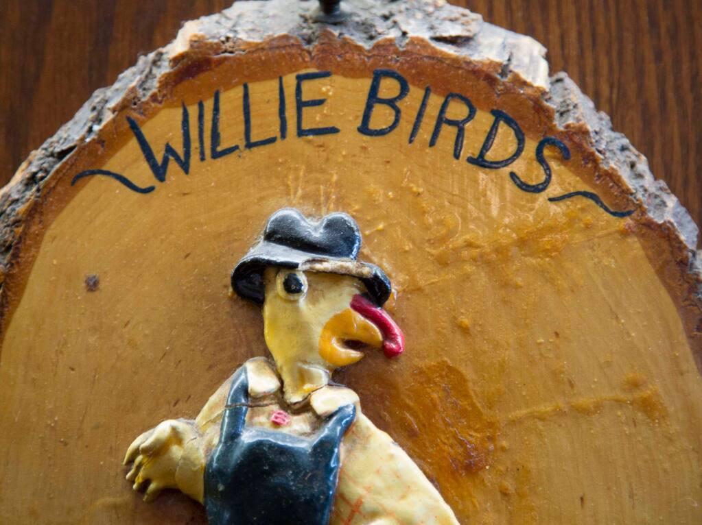 A sign inside Willie Bird's Restaurant in Santa Rosa. (COURTESY PHOTO)