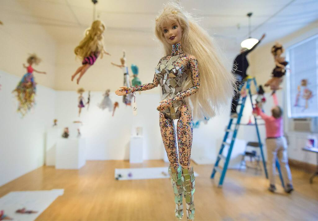 Trashion Fashion Barbie Exhibition Opening In Sonoma