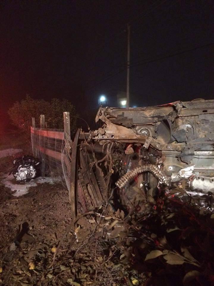 A driver lost control of her vehicle early Saturday in a crash on Highway 116 in Graton. (Graton Fire Protection District)