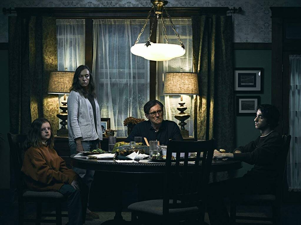 """""""Hereditary"""": After her elderly mother dies, Annie Graham (Toni Collete) and her family soon discover that they've inherited something sinister. Stream it now on Amazon Prime. (IMDb)"""