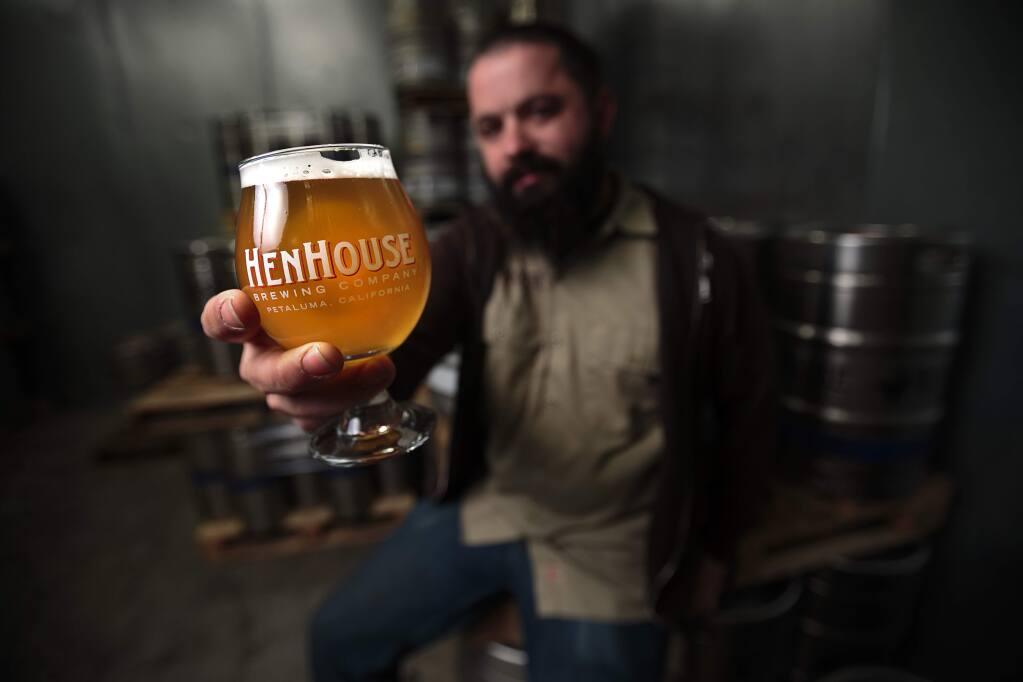 Collin McDonnel, Henhouse Brewing brewmaster, will unveil some new brews in Petaluma in honor of SF Beer Week.