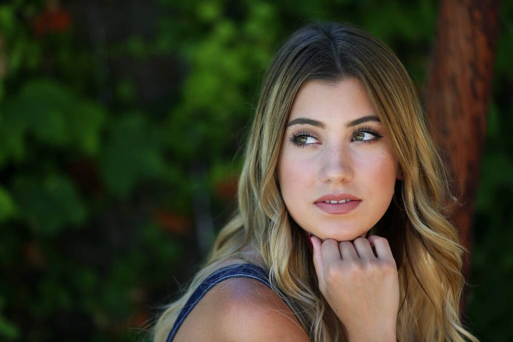 Dallas Caroline, 17, of Santa Rosa, appeared in 'The Voice' last spring, and plans on performing several local concerts before moving to Nashville to pursue a career in country music.(Christopher Chung/ The Press Democrat)
