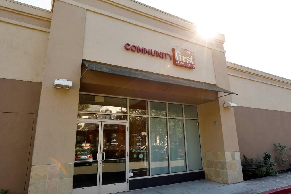 The Community First Credit Union branch at the corner of College and Mendocino avenues in Santa Rosa. (Alvin Jornada / The Press Democrat)