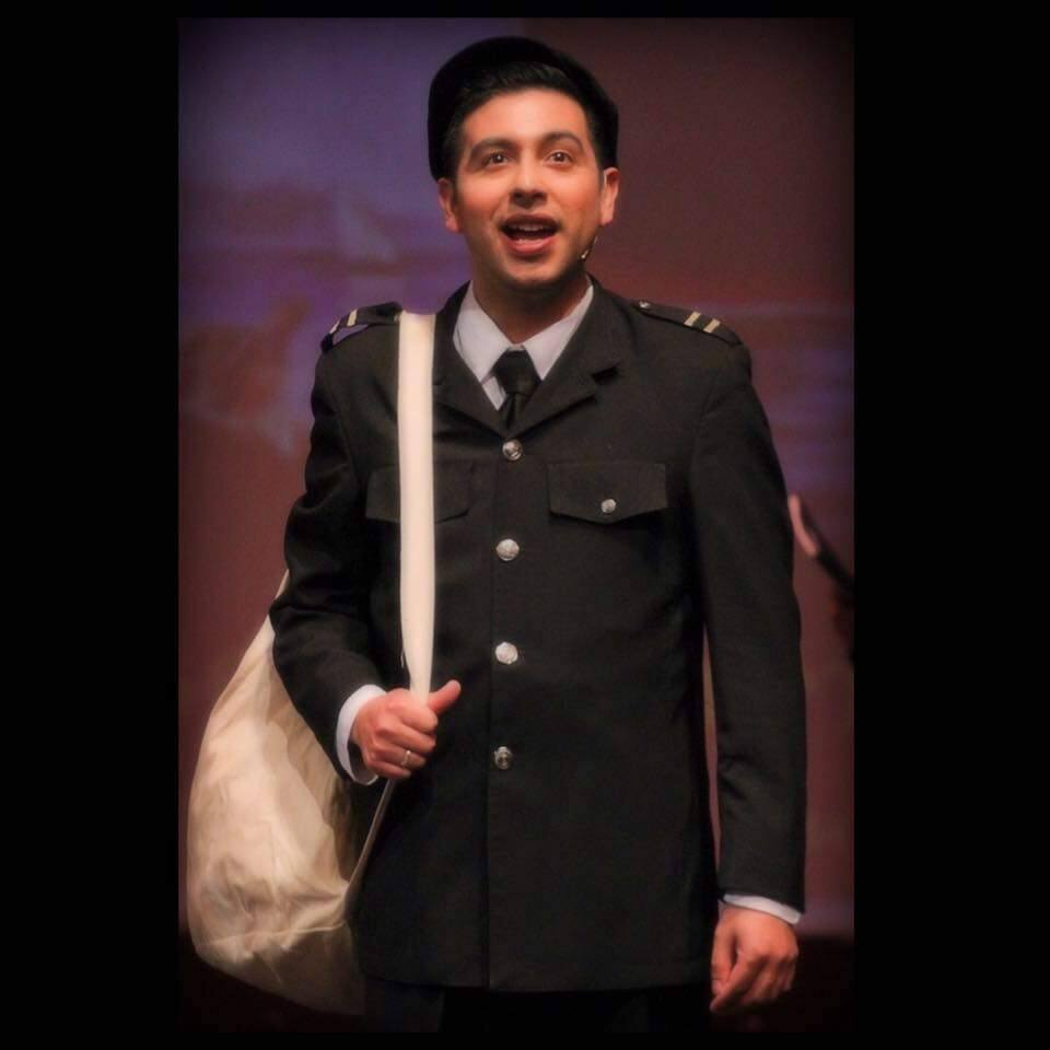 SAIL ON, SAIL ON: Lorenzo Alviso as Frederick Fleet in 'Titanic the Musical' at Spreckels Performing Arts Center (Oct. 2016)