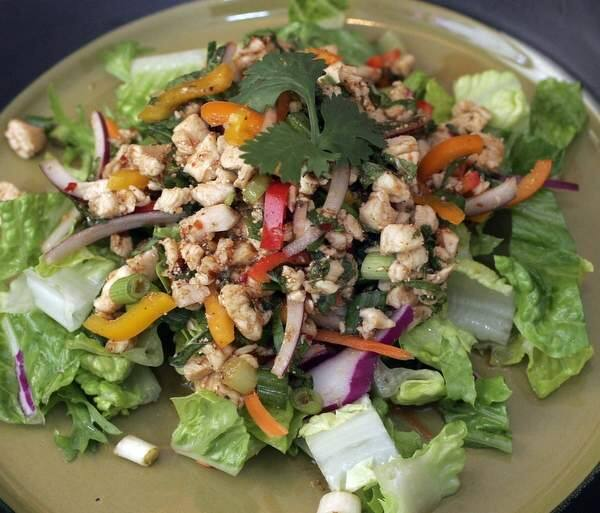 Most local restaurants that offer larb on their menus use ground chicken, but, it can also be made with ground turkey, ground beef, minced shrimp and minced fish. (The Press Democrat, file)