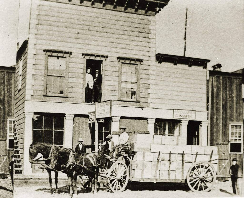 Courtesy of Healdsburg MuseumC.E. Proctor with a wagonload of goods in 1872. Proctor was one of numerous teamsters who hauled goods to Pine Flat.""