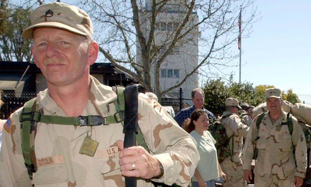 PC: Michael Ottolini, 45, of Sebastopol, a member of the 579th Engineer Battalion was killed in a roadside explosion in Iraq. (file)