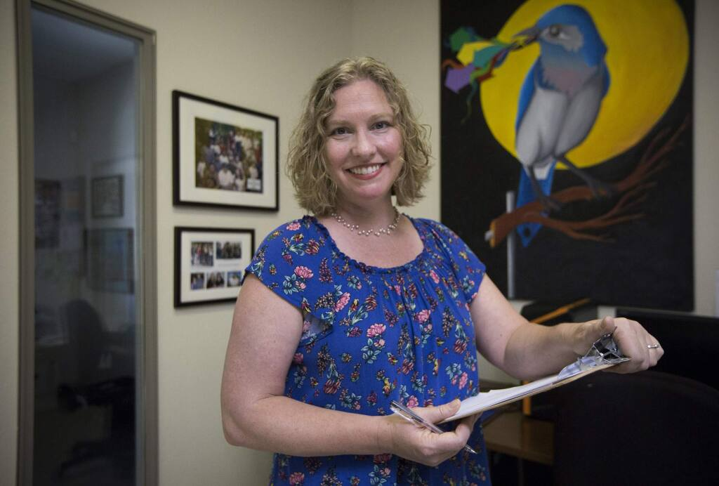 Cristin Felso, executive director of Teen Services Sonoma, will be stepping down and moving to Washington state with her husband to be closer to her family. (Photo by Robbi Pengelly/Index-Tribune)