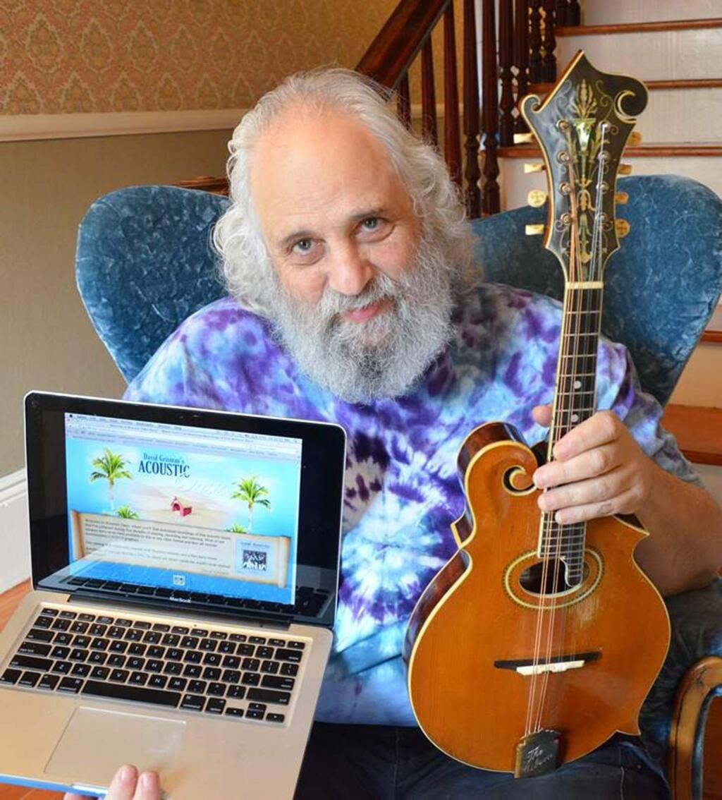 PHOTO: 1 courtesy of DAVID GRISMAN-Petaluma's David Grisman, internationally famous mandolin player and composer, now markets his music himself online.