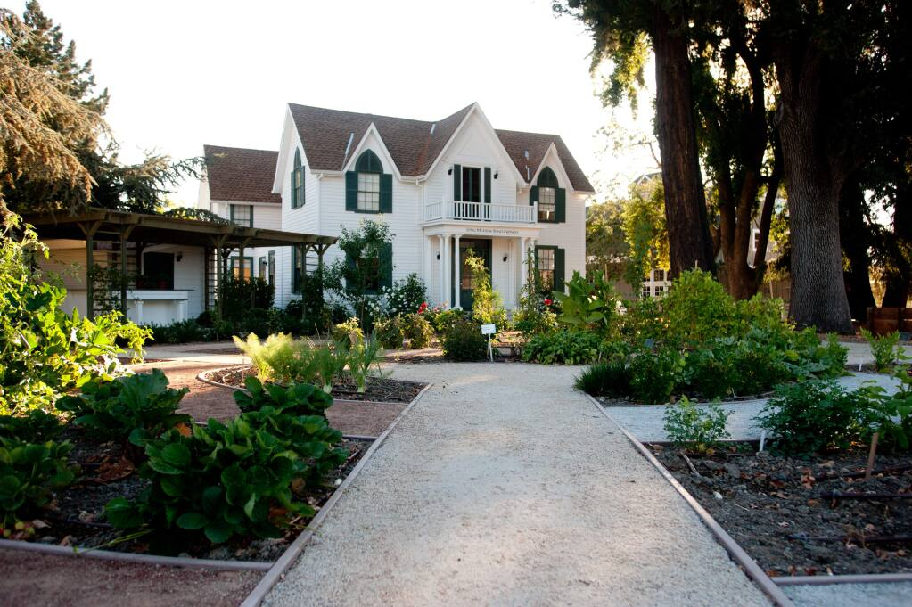 Logan-Ives House at Long Meadow Ranch Winery & Farmstead in St. Helena is switching everything over to the great outdoors on Wednesday and still have ample parking for guests.  (Press Democrat/Kristen Loken)