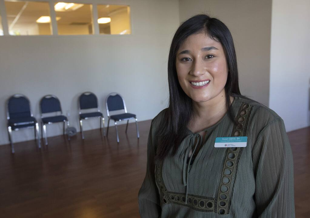 Susan Garcia is the Community Outreach Coordinator for the Dental Program at the Center for Well-Being in Santa Rosa. (photo by John Burgess/The Press Democrat)