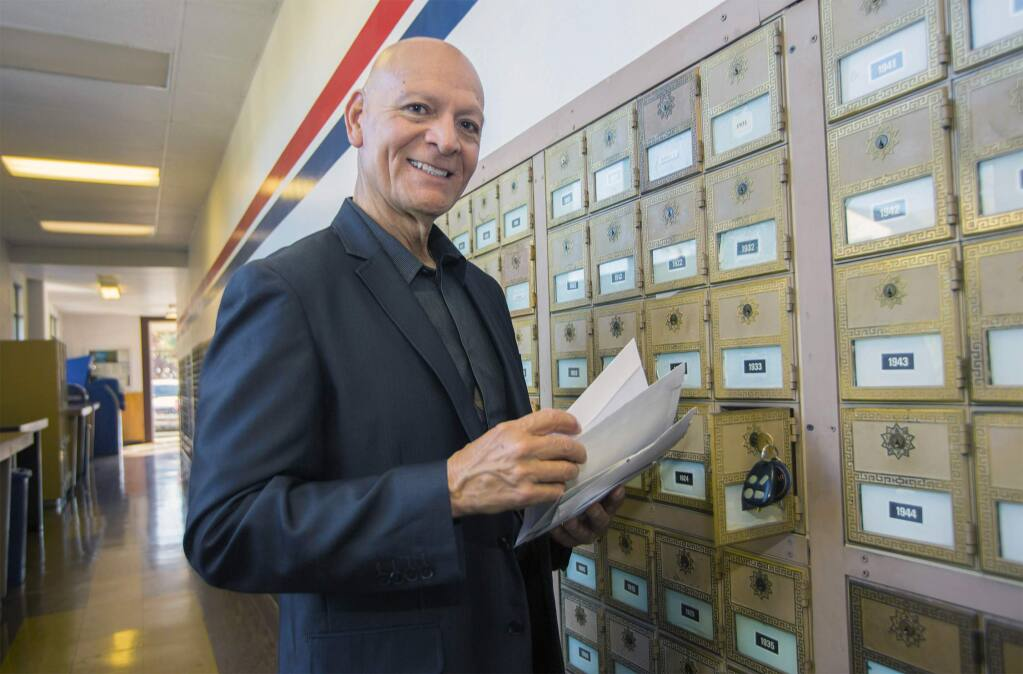 Sonoma mail-carrier Butch Alvarez, a familiar face around town, officially retires from the Post Office. (Photo by Robbi Pengelly/Index-Tribune)