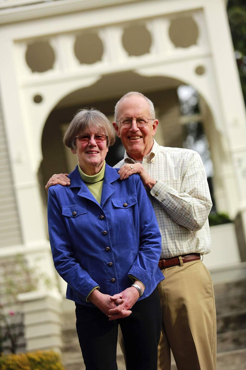 Harry and Dee Richardson donate to the Santa Rosa Community Foundation. (JOHN BURGESS / The Press Democrat)
