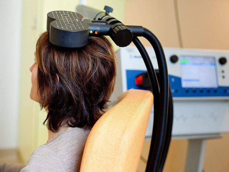 Transcranial magnetic stimulation (TMS) uses magnetics instead of electricity to stimulate small regions of the brain to treat depression and other conditions. (TMS.MEDSCAPE.COM)