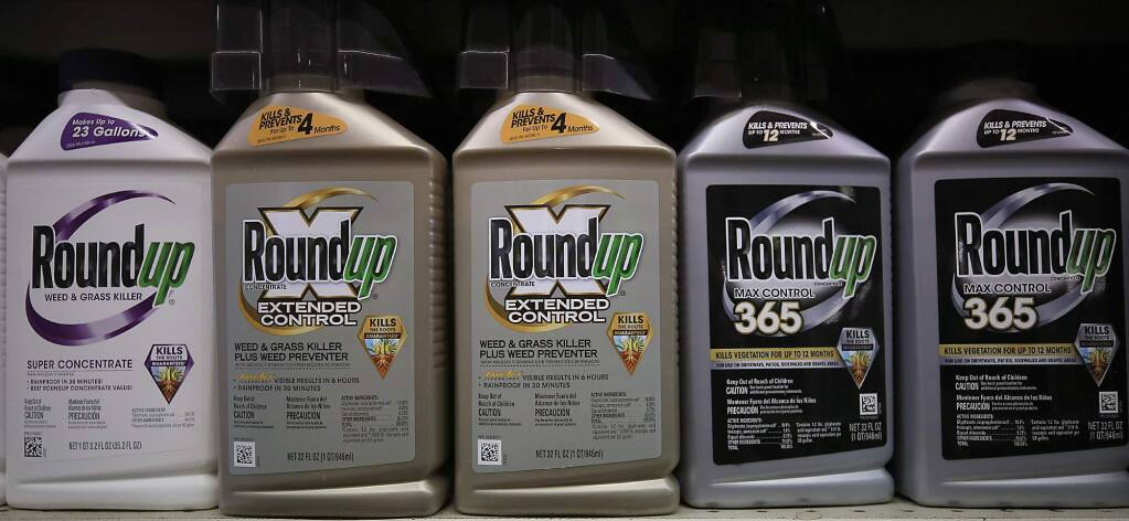 Roundup on a local Santa Rosa store shelf, Tuesday June 27, 2017. (Kent Porter / Press Democrat) 2017