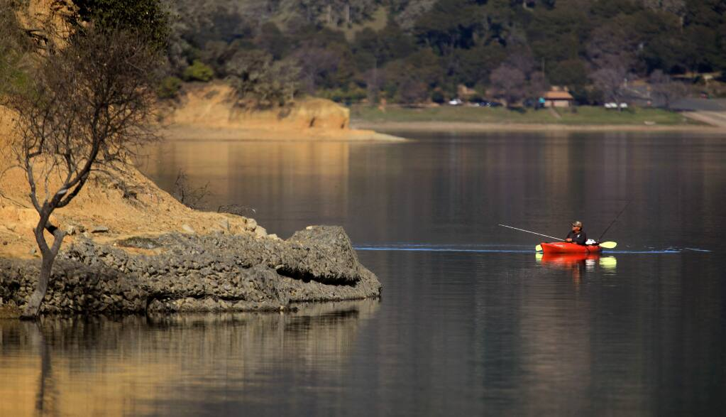 Lake Mendocino is way past full, Monday, Feb. 10, 2020. The region had seen below average rainfall this winter. (Kent Porter / The Press Democrat) 2020