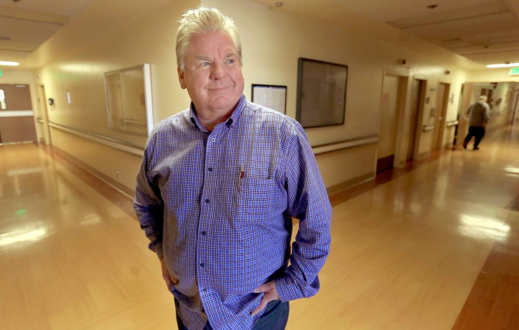 Dennis Colthurst, seen Wednesday, is a new board member of Palm Drive Hospital and he hopes for an April reopening of the facility. (Kent Porter / Press Democrat) 2015