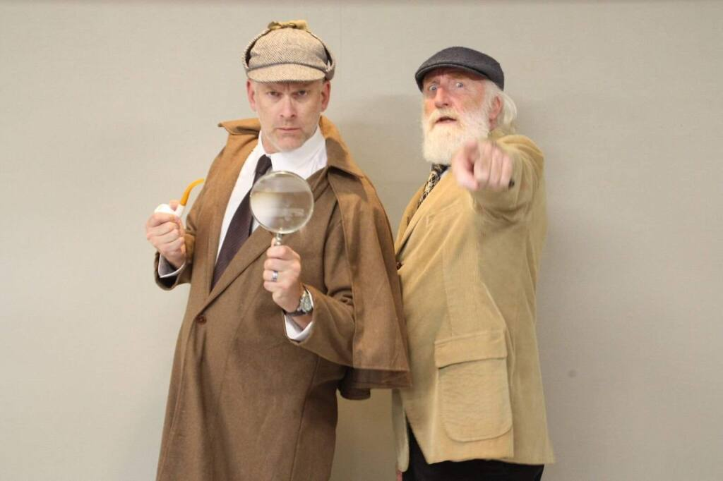 The Petaluma Radio Players will present Sherlock Holmes and his aide, Doctor Watson, this month at Hotel Petaluma.