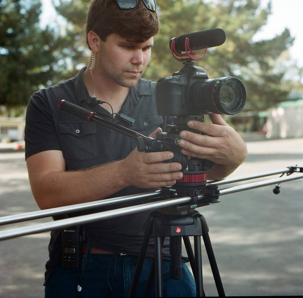 Submited photoProfessional filmmaker and SVHS graduate Mike Abela recently returned to campus to shoot a short film promoting the SVHS school district.