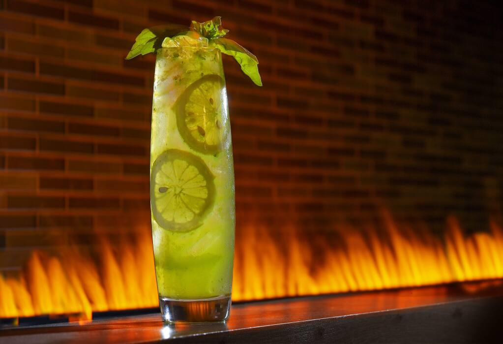 Basil Lemonade from the Perch + Plow on Courthouse Square in Santa Rosa. (photo by John Burgess/The Press Democrat)
