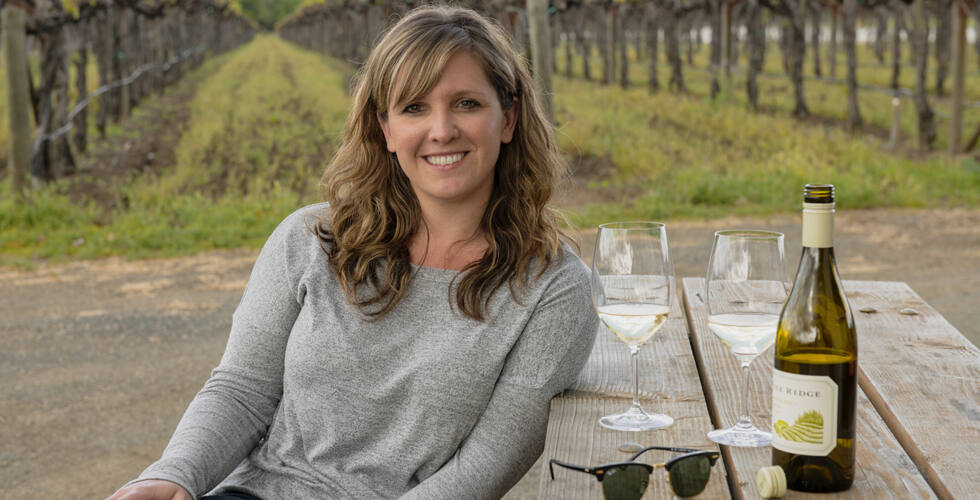 Colleen FitzGerald, winemaker, Chenin Blanc + Viognier (CB+V) program, Pine Ridge Vineyards (Avis Mandel Worldwide photo)