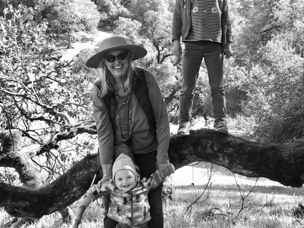 Kathleen Harrison with her grandkids at Taylor Mountain Regional Park. (Klea McKenna)