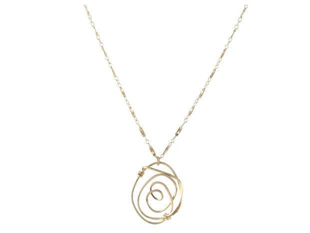 Santa Rosa Rosette necklace (peggyli.com)