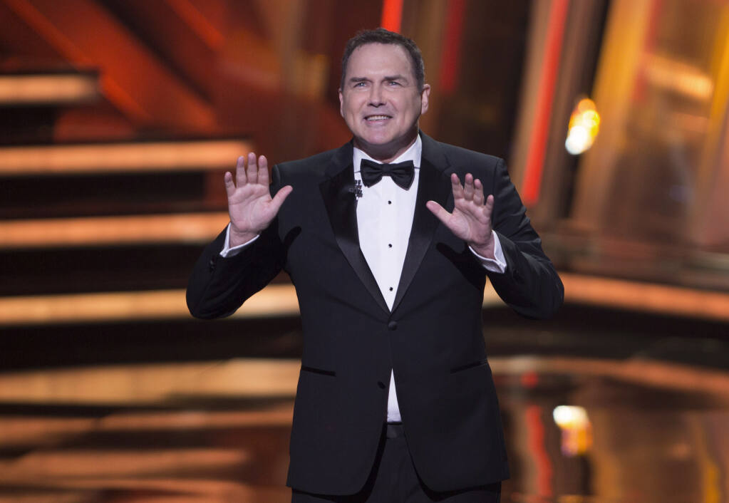Norm Macdonald begins as host of the Canadian Screen Awards in Toronto on Sunday, March 13, 2016. (Peter Power/The Canadian Press via AP)
