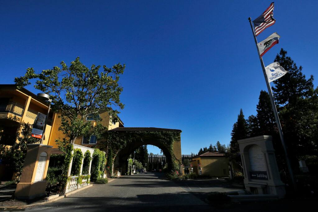 A block of 60 rooms at the Best Western Dry Creek Inn has been reserved by county officials as an alternate quarantine site for COVID-19 patients, in Healdsburg, California, on Tuesday, July 21, 2020. (Alvin Jornada / The Press Democrat)