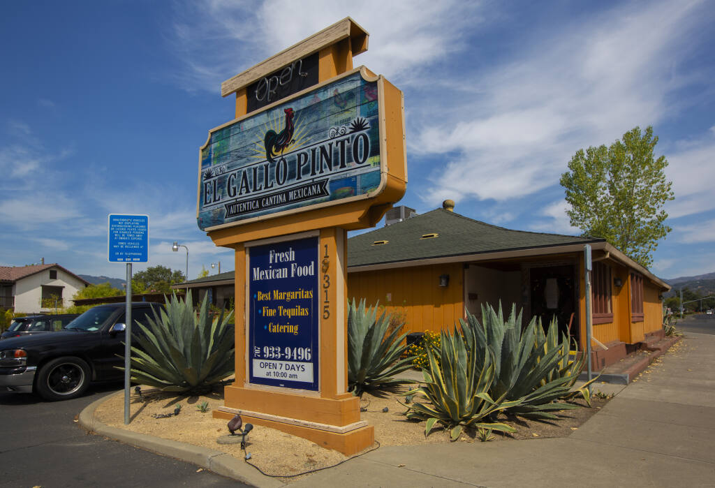 19315 Sonoma Highway, recently the home of El Gallo Pinto restaurant, is the proposed site of Sparc's retail cannabis dispensary. (Photo by Robbi Pengelly/Index-Tribune)