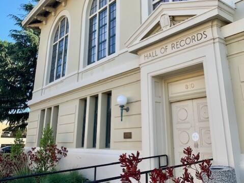 Napa's Hall of Records could be a site for jury trials for the county courts. (Bob Fleshman photo)