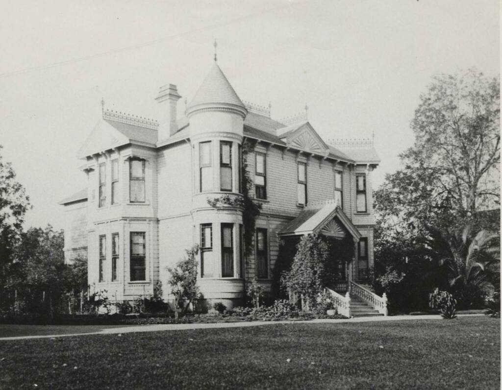 The house at 312 Sixth St. was built in 1886 for Arthur Leslie Whitney. His mother-in-law, Isabel Grigsby St. John Denman moved into the house with her husband, Ezekiel Denman, and stepdaughters, Nellie and Catherine, in 1891. Mrs. Denman hosted the first in a series of parlor meeting inaugurated by the Political Equality Club on Sept. 26, 1896. (Sonoma County Library)