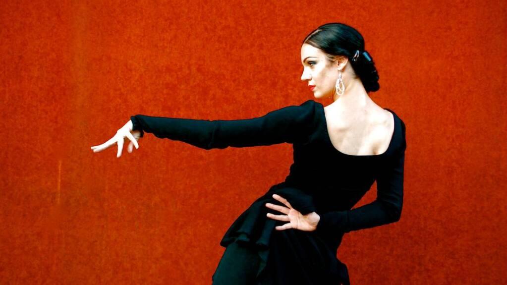 Savannah Fuentes dances the Flamenco on Aug. 1 at the Petaluma Veterans' Building. (COURTESY OF SAVANNAH FUENTES)