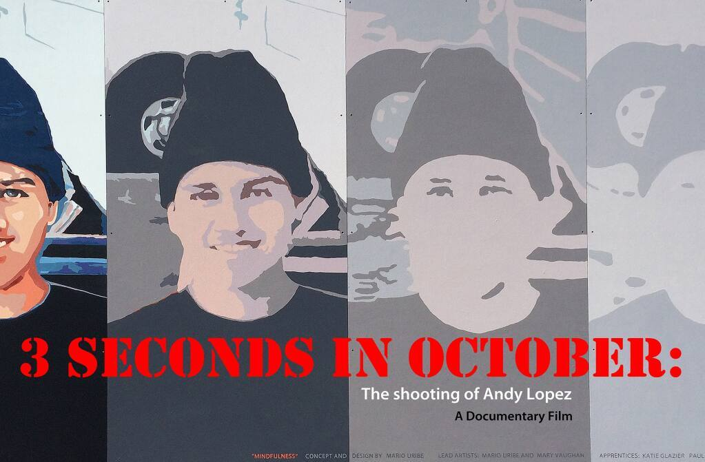 """""""3 Seconds in October: The Shooting of Andy Lopez"""" will be rebroadcast at 10:30 p.m. Friday, July 23, on KRCB-TV, Channel 22. (Ron Rogers)"""