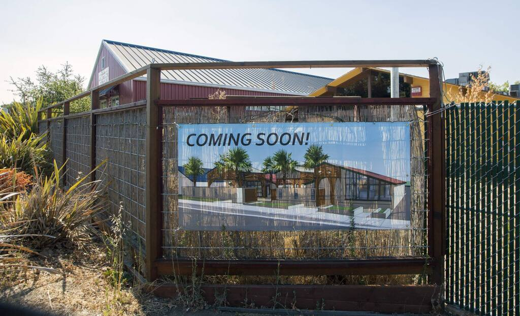 The location of the former Community Cafe and Annex wine bar on West Napa Street has been suggested as a potential site for a cannabis dispensary. A proposal to redesign the property is currently in the planning stages.