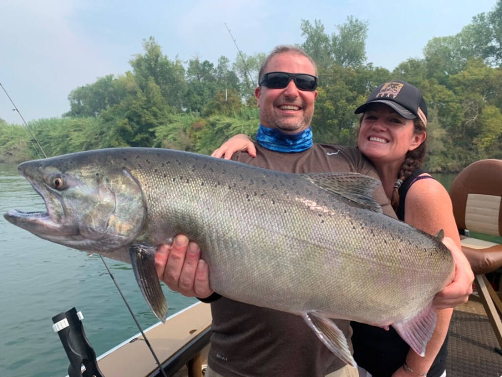 Huge king salmon are heading up the Sacramento River this season. Guide Kirk Portocarrero predicts some will be in the 40- to 50-pound class.