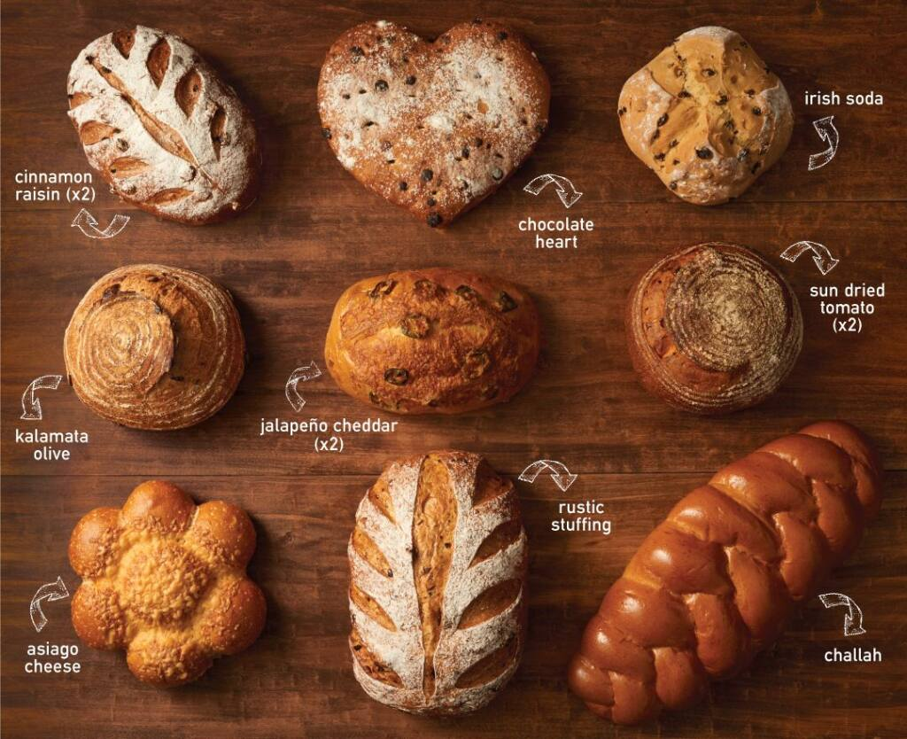 Boudin Bakery is offering a Specialty Bread Club that includes one sourdough and one specialty bread a month. (Boudin Bakery)